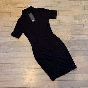 NWT - Nasty Gal black mock neck dress